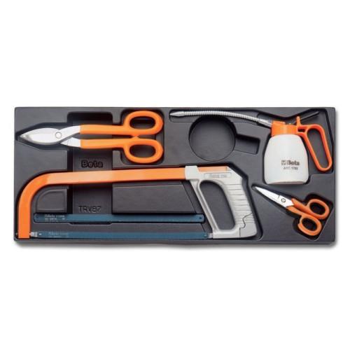 2424 Т285 - Набор інструментів в ложементі 4 предмета