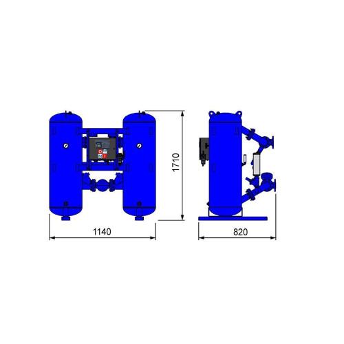 Адсорбционный осушитель Omi HL350PRO -40°C