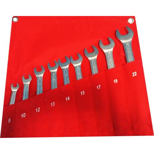 Набор ключей комбинированных 9 предметов 8-22 мм NKK009 8-22
