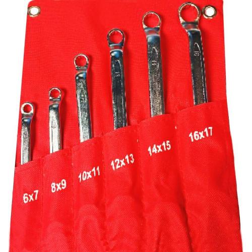Набор ключей накидных 6 предметов 6-17 мм NNK006 6-17