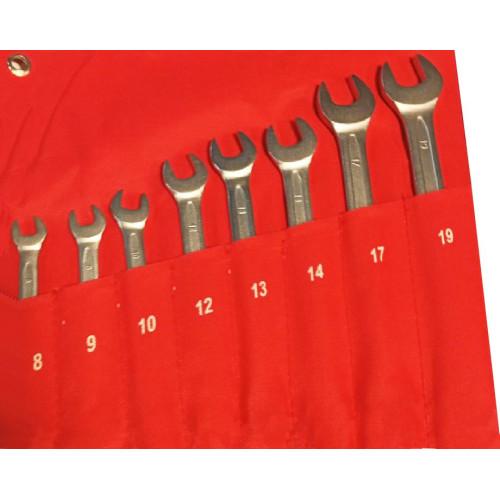 Набор ключей комбинированных 8 предметов 8-19 мм NKK008 8-19