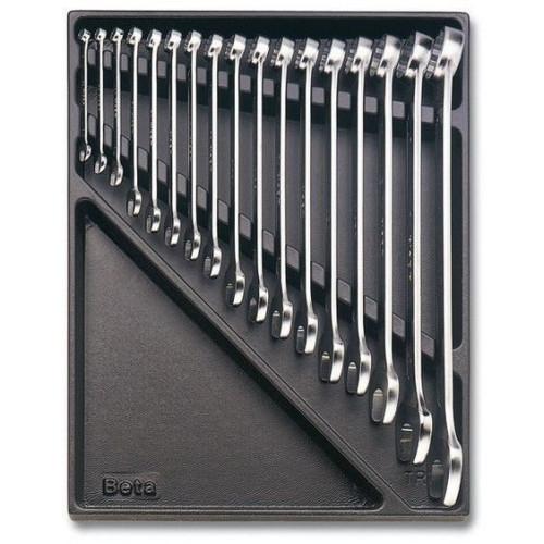 2424 T10-набор ключей комбинированных в ложименте,17 предметов