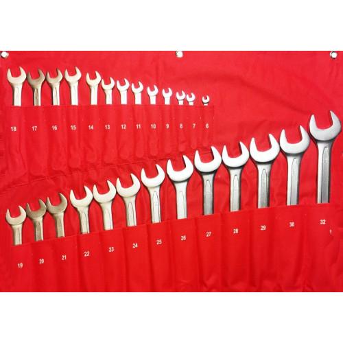 Набор ключей комбинированных 26 предметов 6-32 мм NKK026 6-32