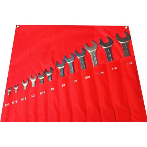 Набор ключей дюймовых комбинированных 12 предметов 1/4-1.1/4'' NKK012